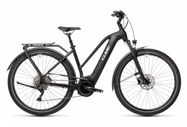 Bicicleta Ciudad Mujer Cube Touring Hybrid Pro 625 Trapeze Noir