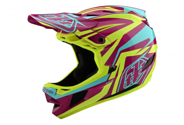 Troy Lee Designs D4 Composite Mips Slash Integralhelm Lila / Gelb