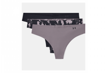 Pack of 3 Women's Strings Under Armor Pure Stretch Print Purple