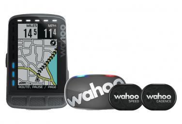 Computadora GPS Wahoo Fitness Elemnt Roam - Paquete de frecuencia cardíaca / velocidad / cadencia Tickr Gen 2