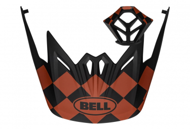 Kit de visera de campana + ventilación de mentón Full-9 rojo / negro