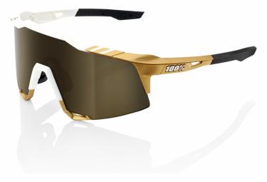 Gafas 100% Speedcraft  white gold HiPER Lens