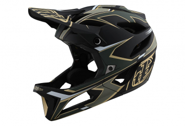 Troy Lee entwirft Stage Mips Ropo Integralhelm Grün / Gold