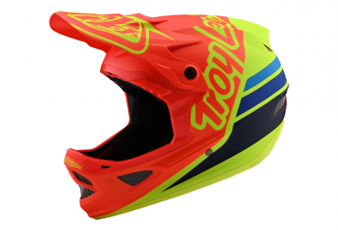 Troy Lee Designs D3 Fiberlite Integralhelm Orange / Gelb