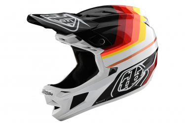 Troy Lee Designs D4 Mips Carbon Mirage Integralhelm Schwarz / Rot