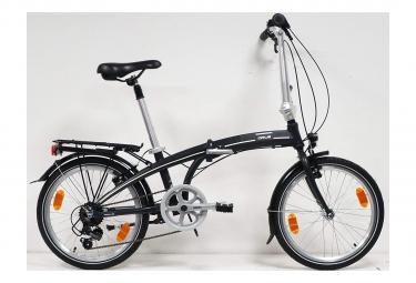 Vélo 20'' Rigide Mixte Alu Pliant 'Orus'. - 7 vitesses - Shimano TY21 - Porte bagages - Tige de selle à suspension