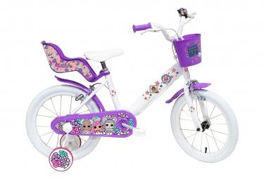 Vélo 16' Licence 'LOL' pour enfant de 5 à 7 ans avec stabilisateurs à molettes