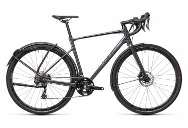 Bicicletta Gravel Cube Nuroad Race FE Shimano GRX 11S 700 mm Dark Grey Black 2021