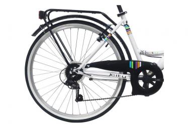 VTC 26'' City Rigide Femme Acier - 6 vitesses - enjambement bas - Shimano