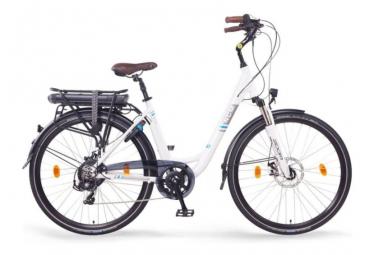 Vélo de ville électrique NCM Munich 26' Blanc/Noir 2020