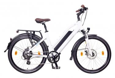 NCM Milano 26 vélo électrique, Urbain, blanc mat - Shimano - Batterie 624Wh / 160cm-188cm