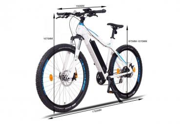 NCM Moscow 29 vélo électrique, VTT, blanc mat