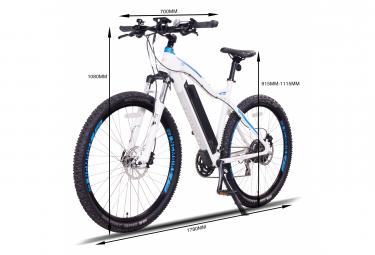 NCM Moscow Plus 29 vélo électrique, VTT, blanc mat - Shimano - Batterie 768 Wh / 170- 205 cm