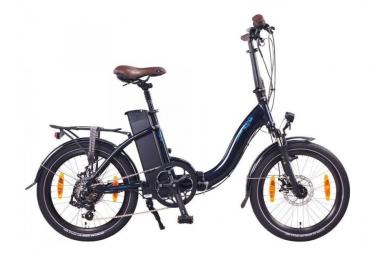 NCM Paris 20'' Bleu Marine, Vélo Electrique Pliant - Shimano - Moteur 250W, Batterie 540Wh / 155cm- 190cm