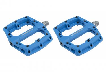 Paire de Pédales Plates Insight Nylon Bleu