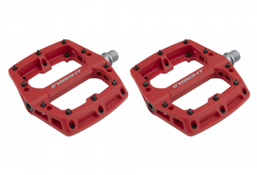 Insight Nylon Flat Pedals Red