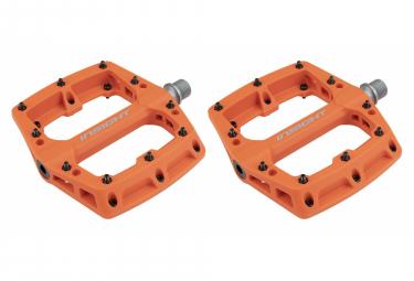 Paire de Pédales Plates Insight Nylon Orange