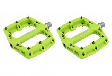 Pedales Planos De Nylon Insight Verde