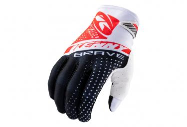Kenny Brave Long Gloves Black / White / Red