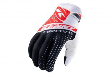 Kenny Brave Kinder lange Handschuhe Schwarz / Weiß / Rot