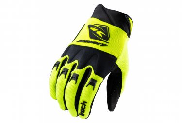 Kenny Track Long Gloves Black / Fluo Yellow