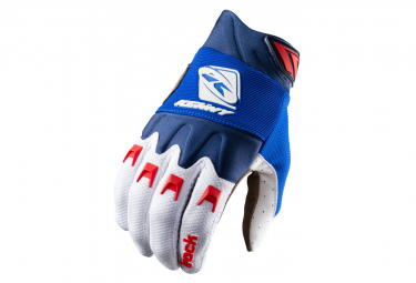 Kenny Track Long Gloves Blue / White / Red
