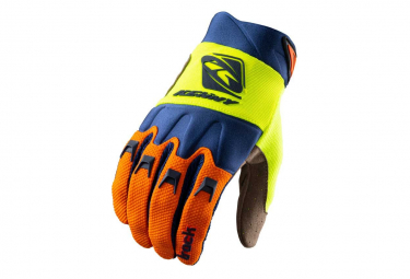 Kenny Track Long Gloves Orange / Navy Blue / Fluo Yellow