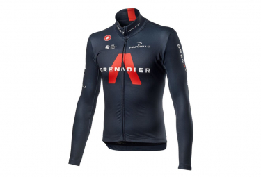 Maillot Manches Longues Castelli Thermal Ineos Grenadier Noir / Rouge
