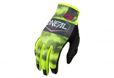 O'Neal Mayhem Covert Lange Handschuhe Grau / Fluo Gelb