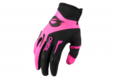 Guantes Largos Mujer O  39 Neal Element Negro   Rosa Xxl