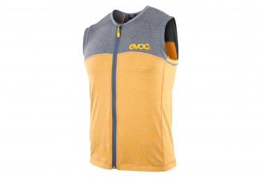 Protective Jacket with Back Protector Evoc Protector Vest Yellow / Grey 2021