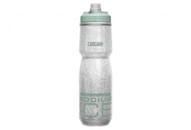 Botella de agua Camelbak Podium Ice de 620 ml, blanco / verde