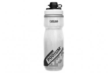 Botella de agua aislada de 620 ml Camelbak Podium Dirt Series, color blanco