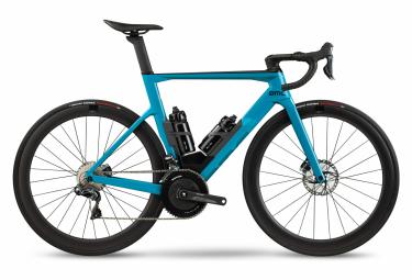 Vélo de Route BMC Timemachine Road 01 Three Shimano Ultegra Di2 11V 700 mm Bleu Petrol Noir 2021