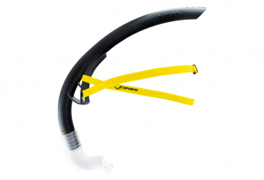 FINIS Stability Snorkel Black - Tuba Frontal Natation