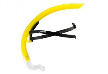 Finis stability snorkel yellow   tuba frontal natation unique