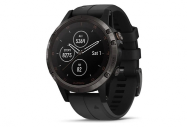 Garmin Fenix 5 Plus Sapphire GPS Watch Carbon Grey with Black Band