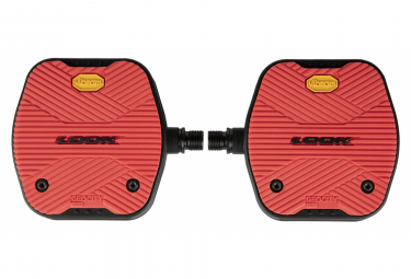 Look Geo City Grip Flat Pedals Red