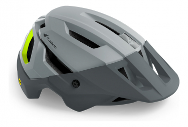Casque VTT Bluegrass Rogue Core Mips Gris Jaune Fluo Mat 2021