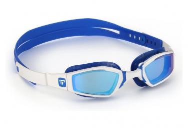Lunettes de bain michael phelps ninja blanc   bleu verres bleus