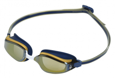 Gafas De Natacion Aqua Sphere Fastlane Azul Marino   Dorado