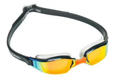 Michael Phelps Xceed Titanium Mirror Gafas De Natacion Gris Oscuro   Naranja