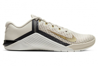 Chaussures de Cross Training Femme Nike Metcon 6 Blanc / Or