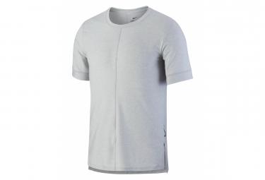 Nike Dri Fit Yoga Camiseta De Manga Corta Gris Hombre S