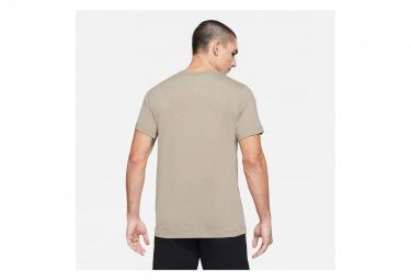 Maillot Manches Courtes Nike Pro Training Beige Homme