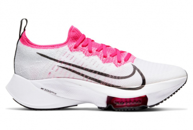 Nike Air Zoom Tempo Next% Running Shoes White Black Pink Women