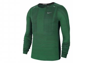 Nike Techknit Ultra Long Sleeve Jersey Verde Hombre S