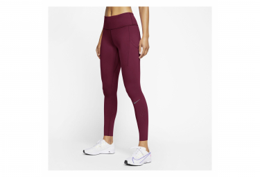 Collant Long Nike Epic Lux Rouge Femme