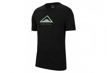 Camiseta Nike Dri Fit Trail De Manga Corta Negro Verde Hombre S