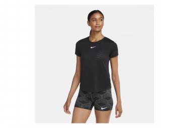 Camiseta Nike Dri-Fit Run manga corta negro mujer